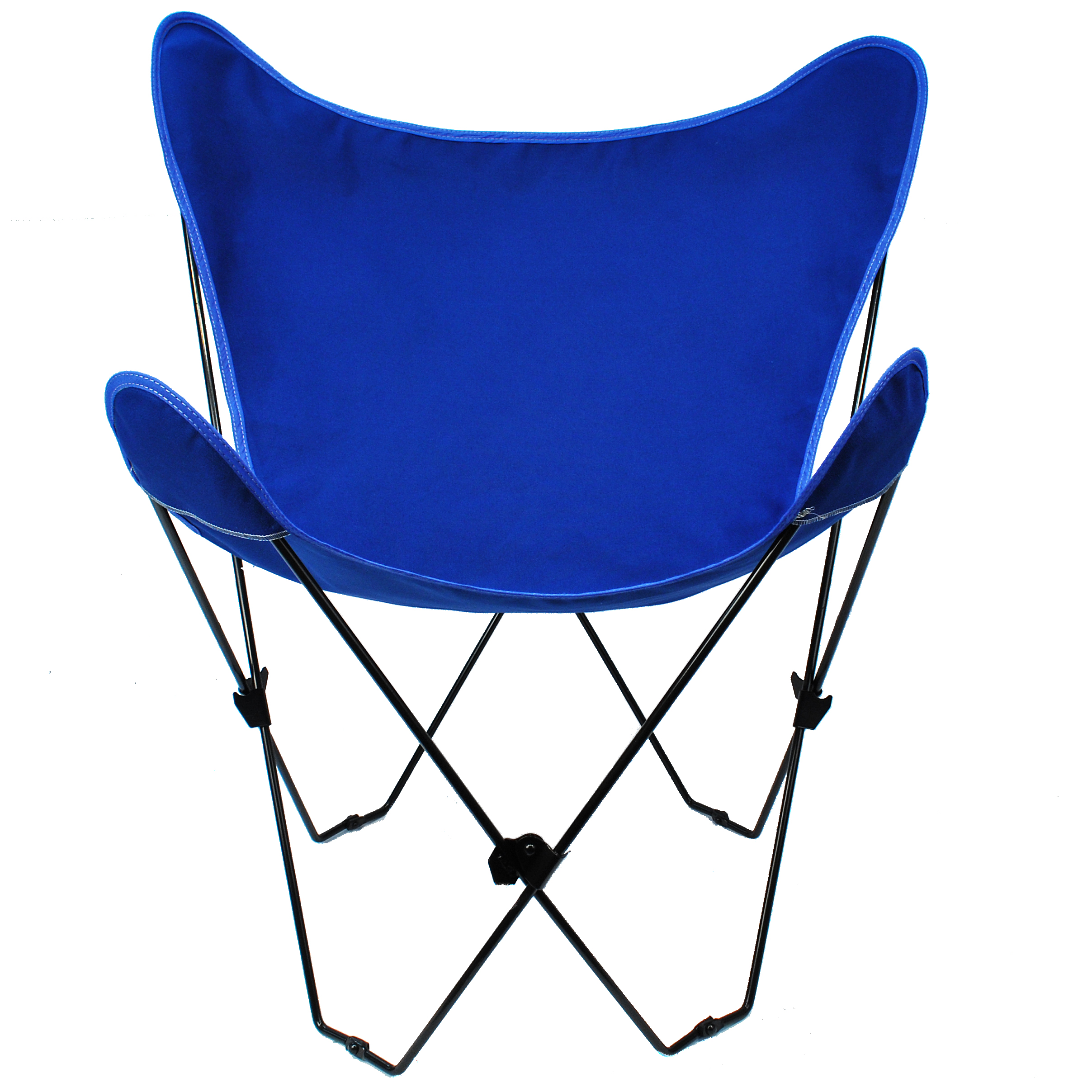 Butterfly Chair and Cover Combination With Black Frame, Royal Blue