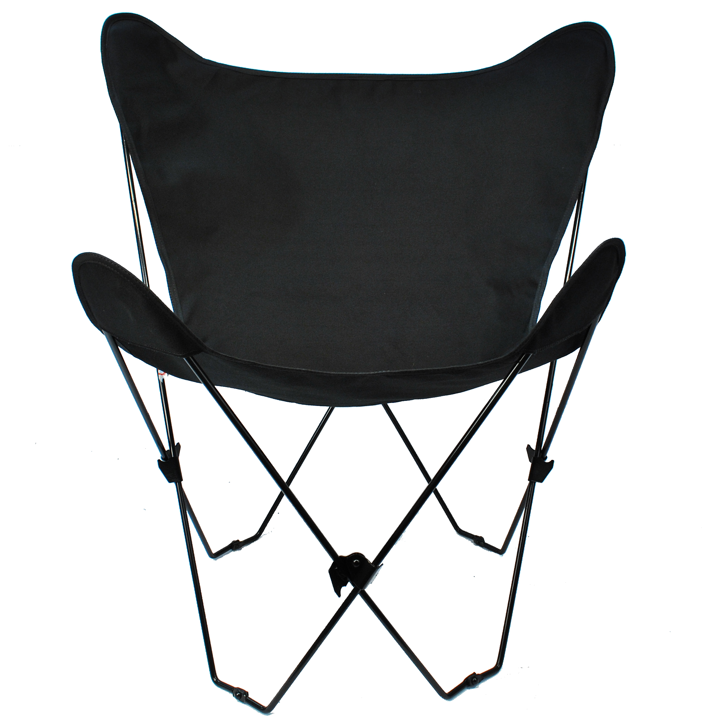 Butterfly Chair and Cover Combination With Black Frame, Black