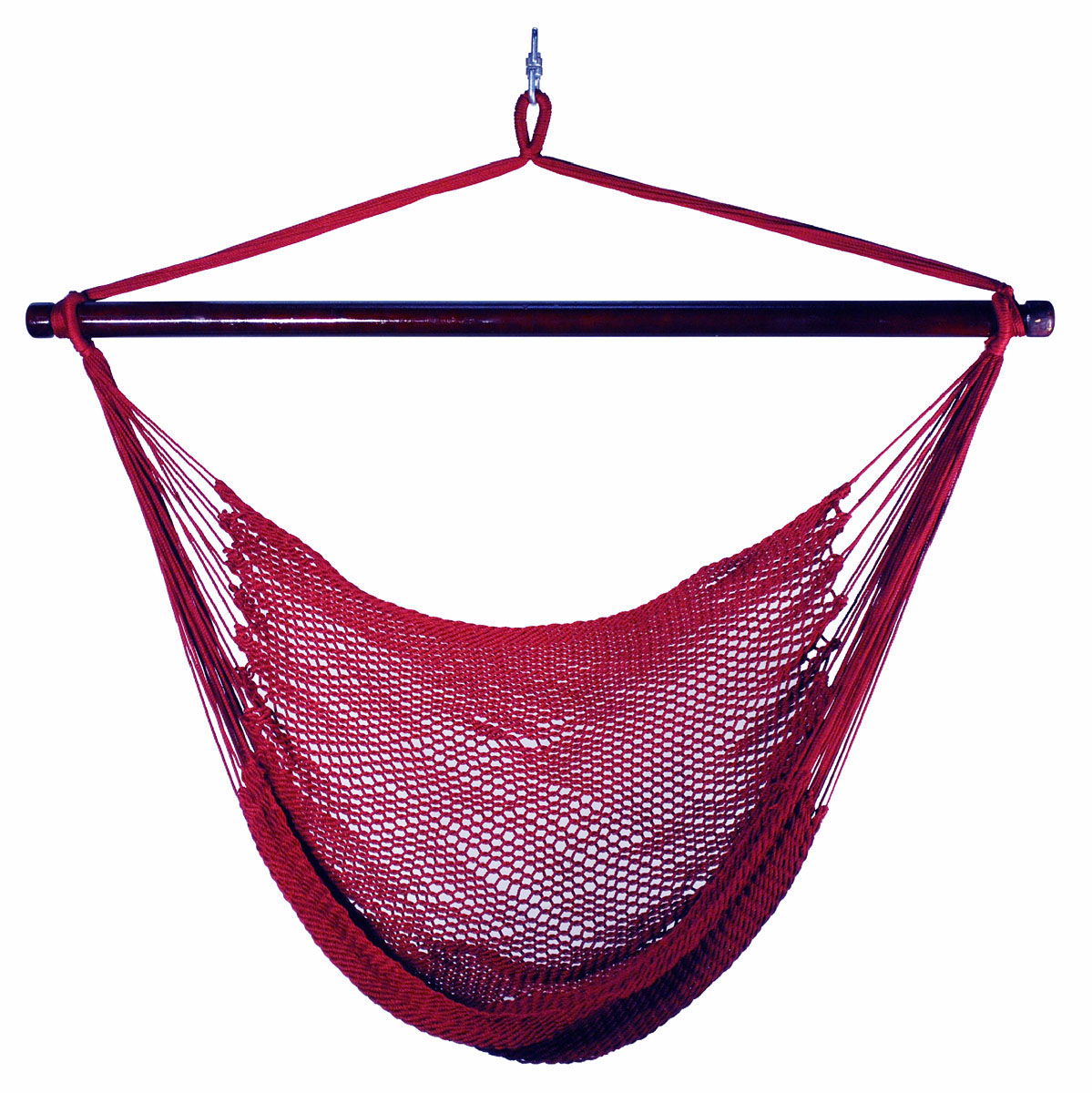 Hanging Caribbean Rope Chair - Burgundy