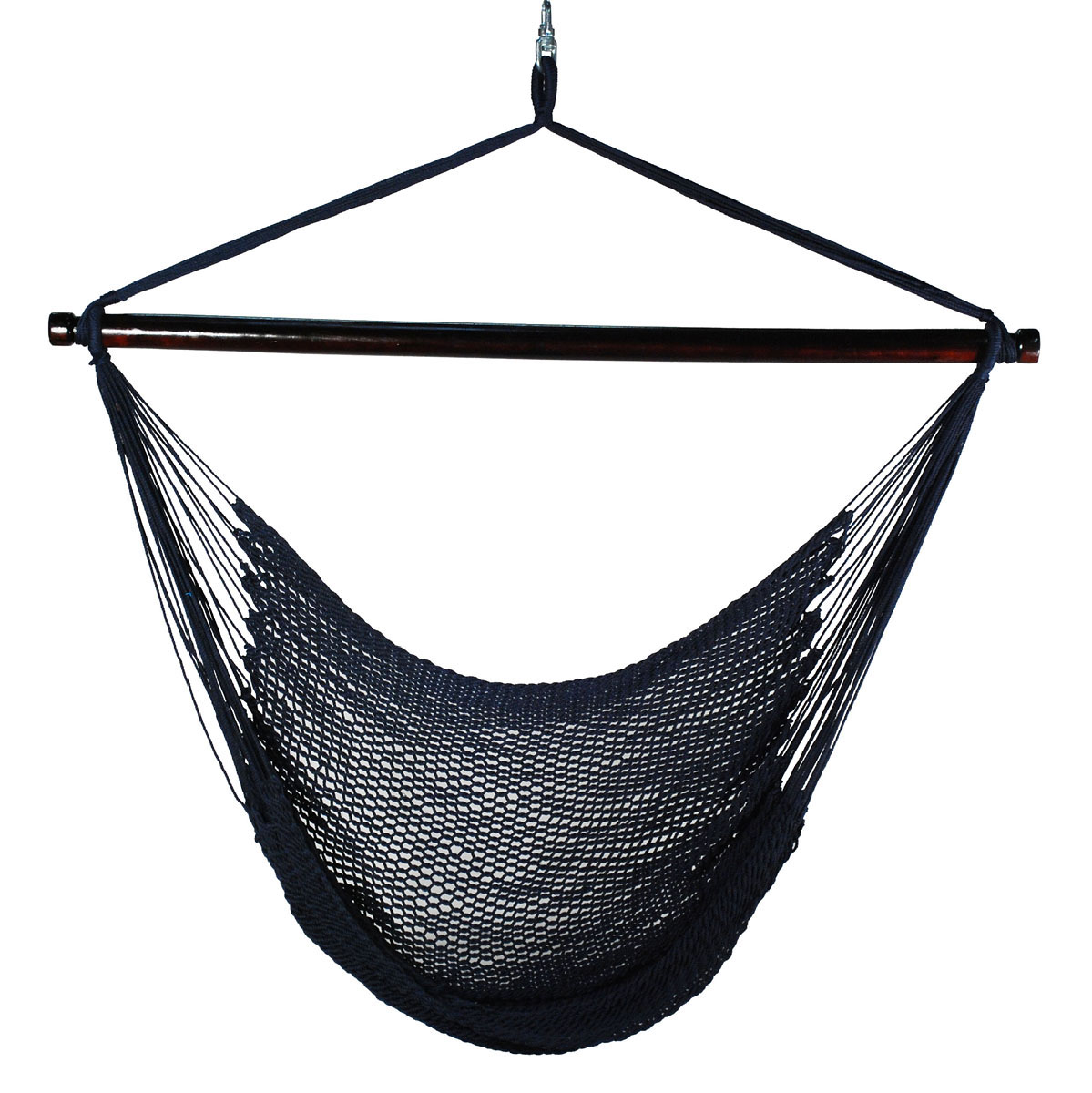 Hanging Caribbean Rope Chair - Navy