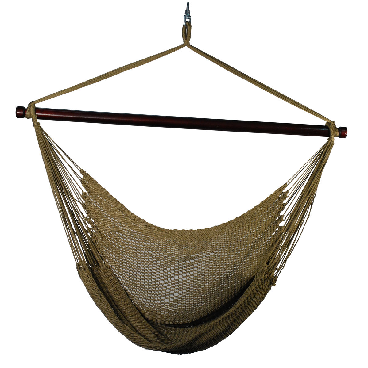 Hanging Caribbean Rope Chair - Tan