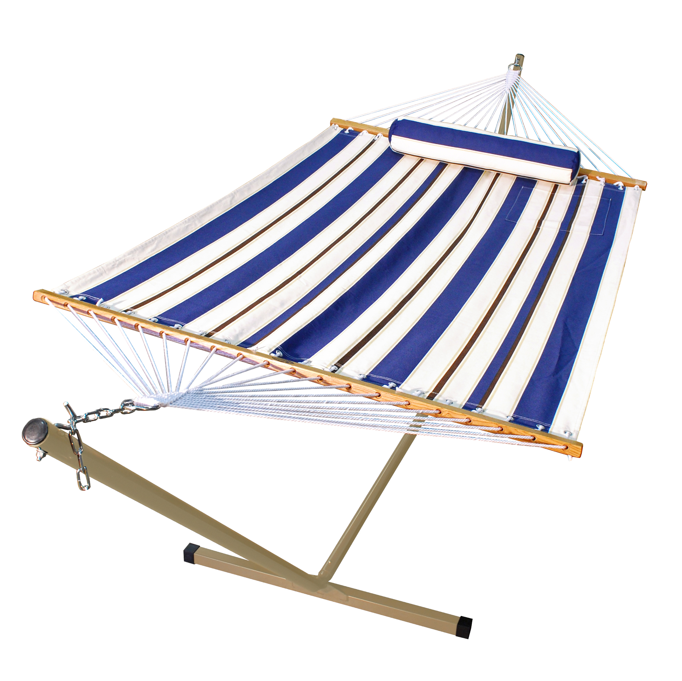 12' Fabric Hammock, Pillow, and Stand Combination