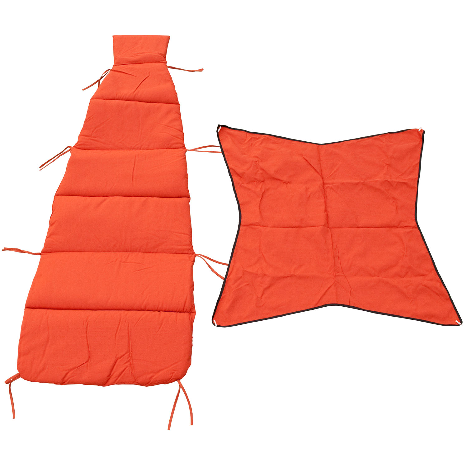 Cloud-9 Burnt Orange Pad/Pillow/Canopy Set