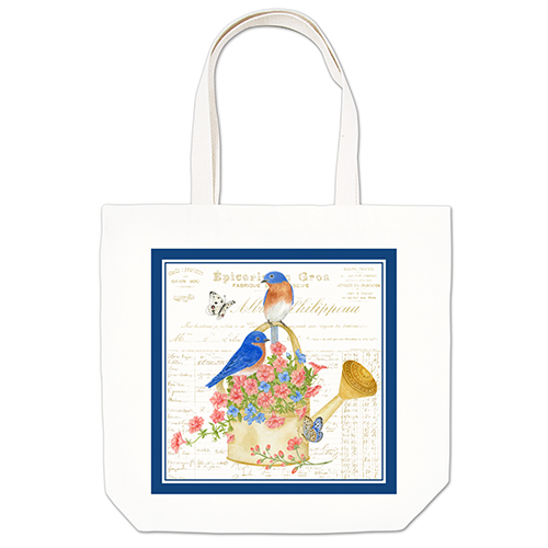 Blue Birds Large Tote
