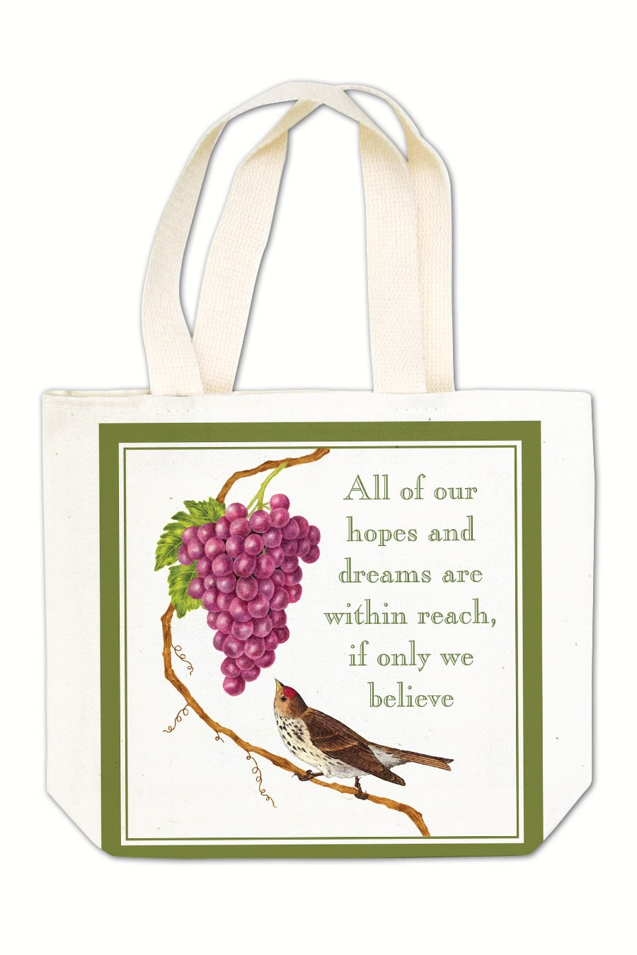 Bird with Grapes Gift Tote