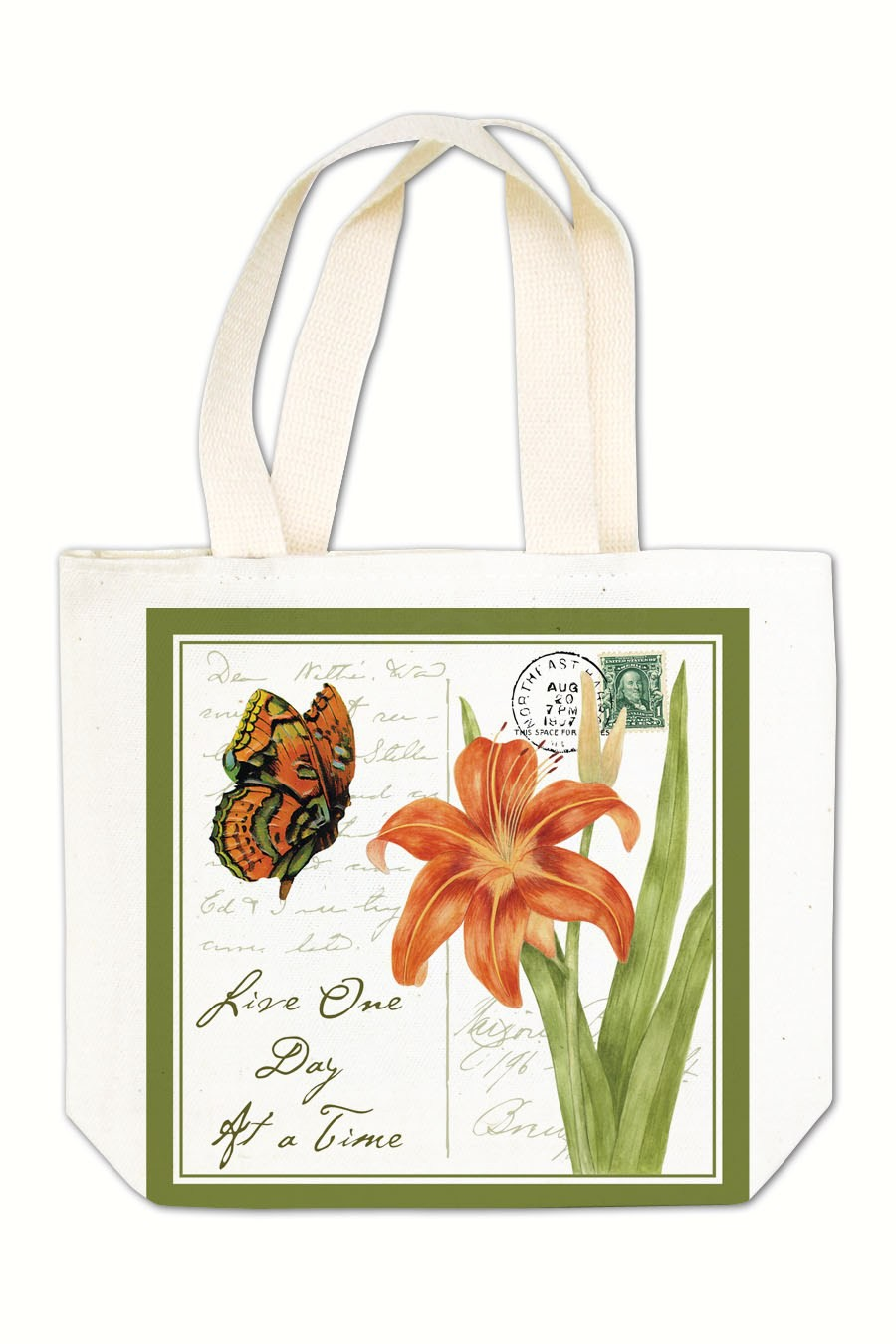 Orange Butterfly Gift Tote