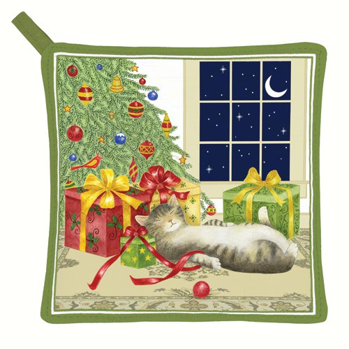 Holiday Cat Potholder