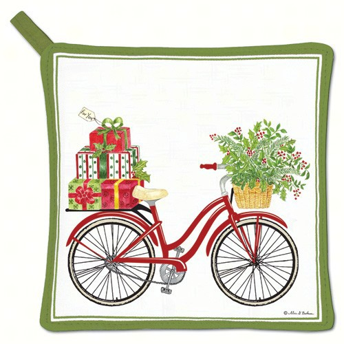 Holiday Bicycle Potholder