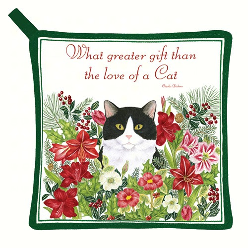 Holiday Kitty Potholder