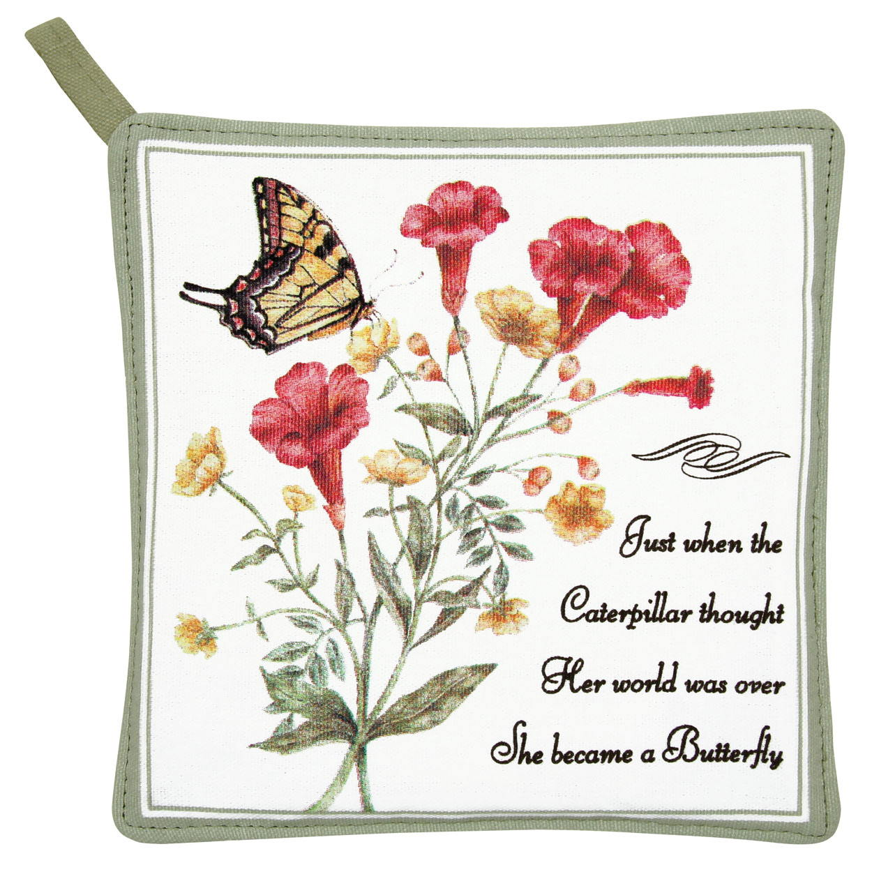Yellow Swallowtail Potholder