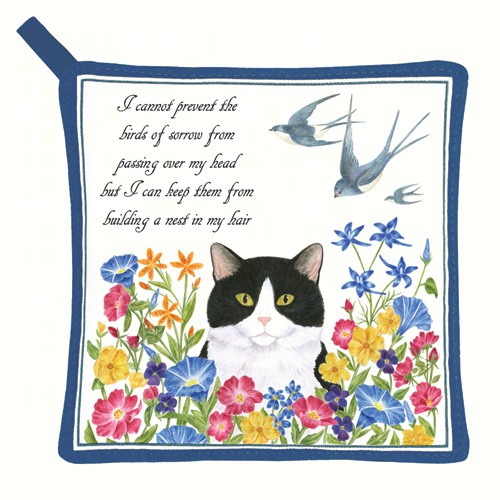 Cat & Swallows Potholder