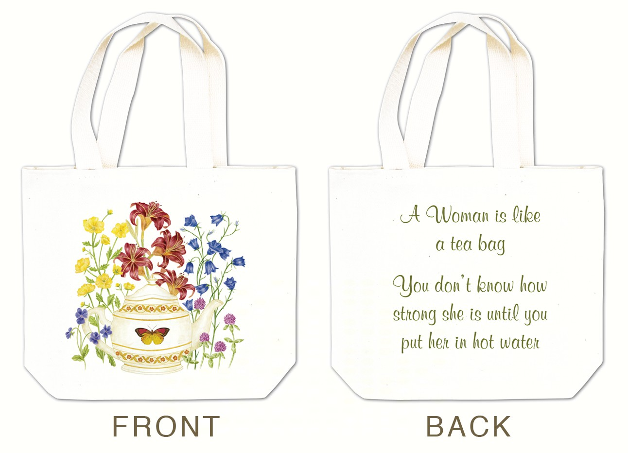 Butterfly Teapot Tea Tote