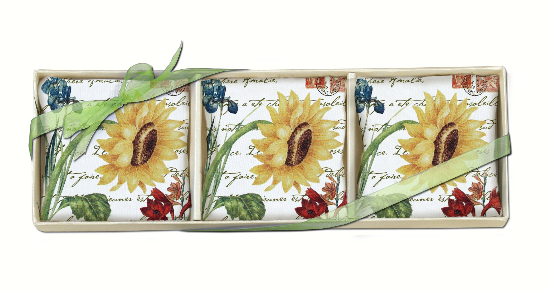 Sunflower Gift Boxed Lavender Sachets (3 pcs)