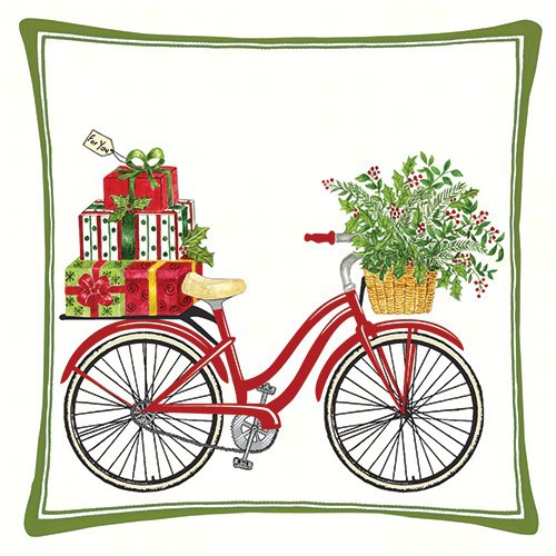 Holiday Bicycle Decor Pillow