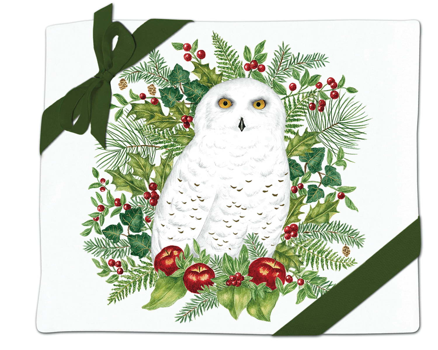 Snowy Owl Flour Sack Towel (set of 2)
