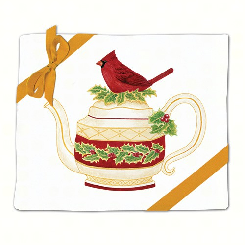 Cardinal Teapot Flour Sack Towel (Set of 2)