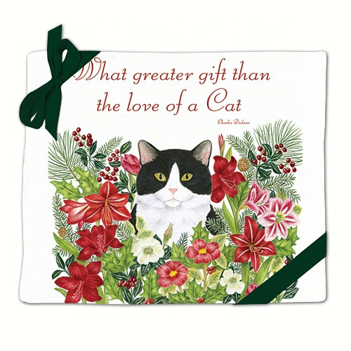 Holiday Kitty Flour Sack Towels (Set of 2)