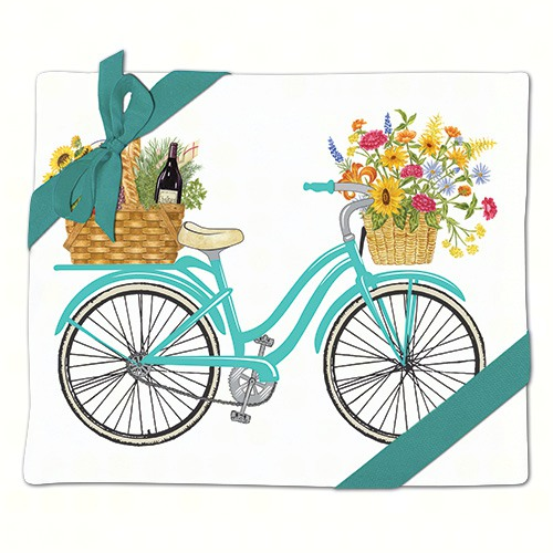 Spring Bike Flour Sack Towel (Set of 2)