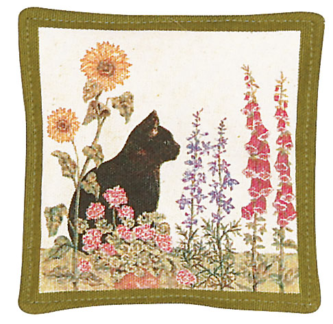 Black Cat Single Mug Mat
