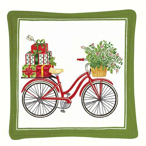 Holiday Bicycle Spiced Mug Mat