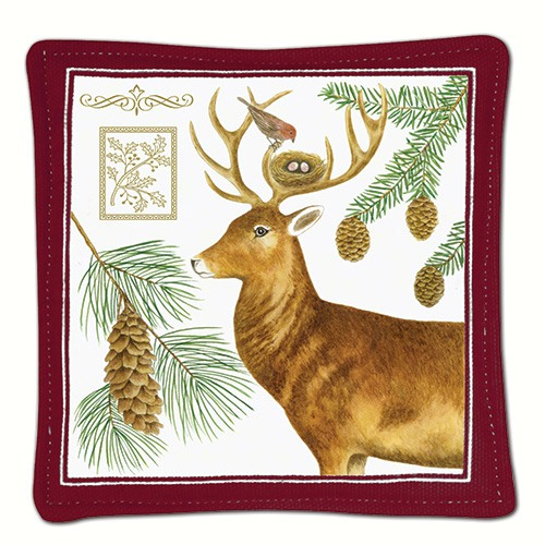 Holiday Deer Single Mug Mat