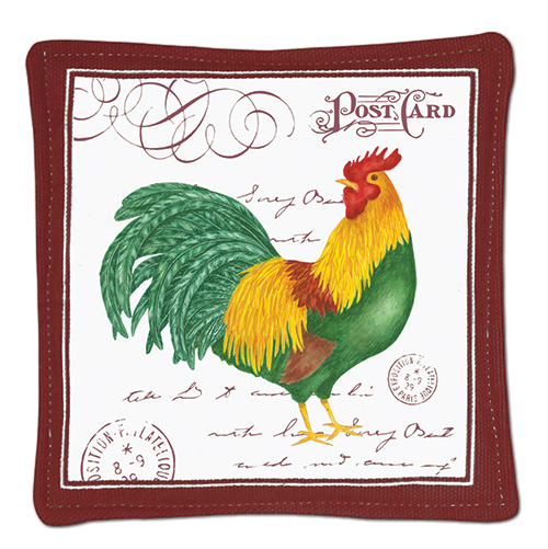 Rooster Postcard Single Spiced Mug Mat