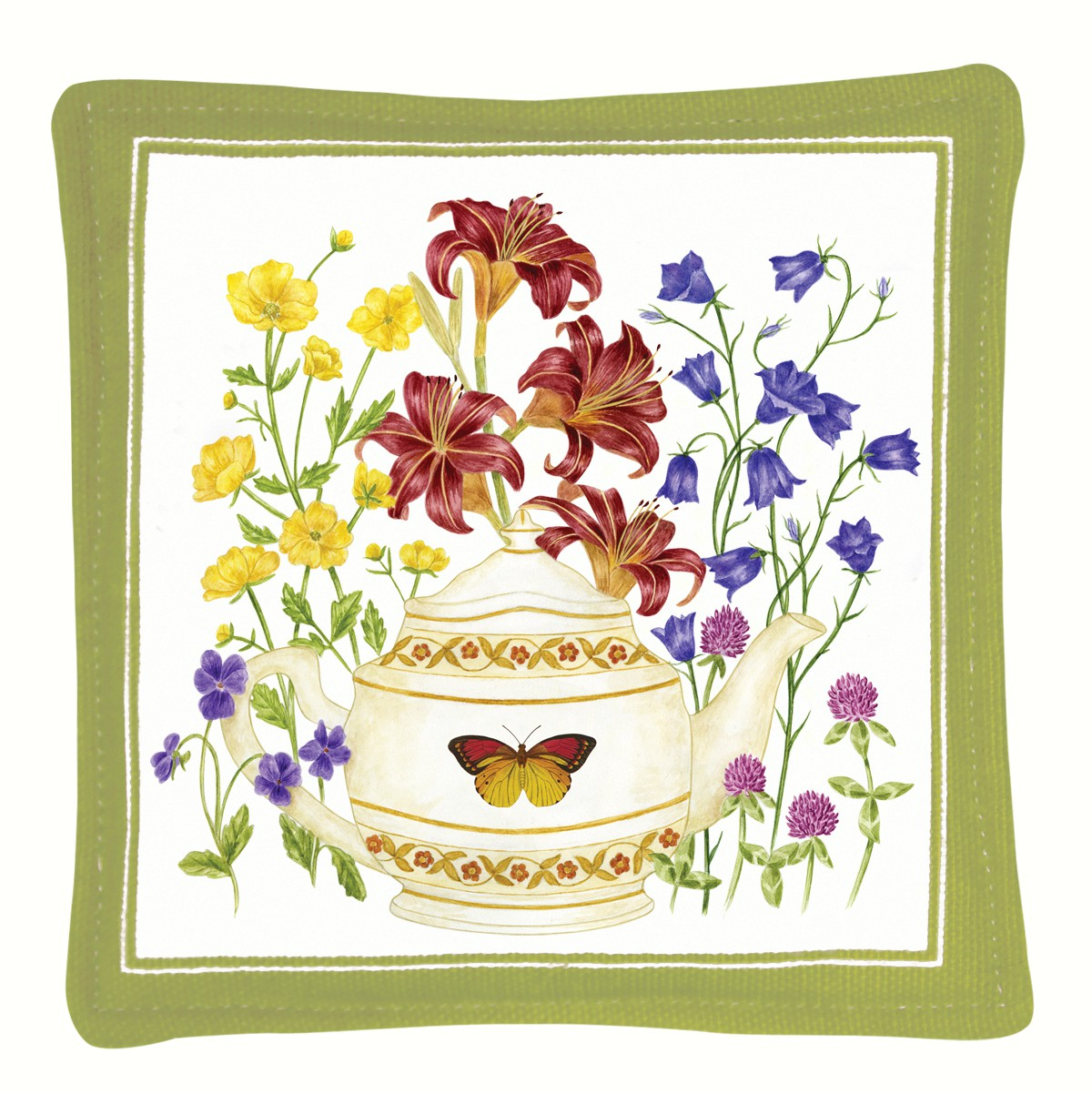 Butterfly Teapot Single Mug Mat