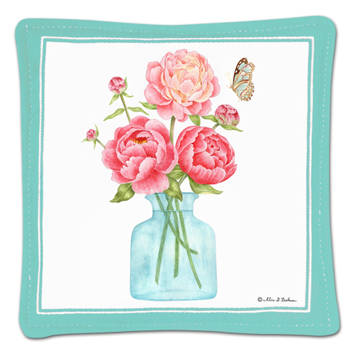 Peonies Single Spiced Mug Mat