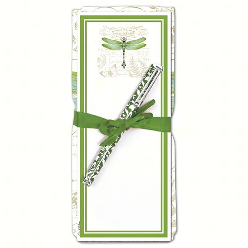 Dragonfly Flour Sack Towel & Magnetic Note Pad Set