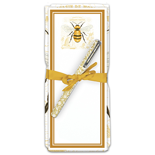 Honey Bee Flour Sack Towel & Magnetic Notepad