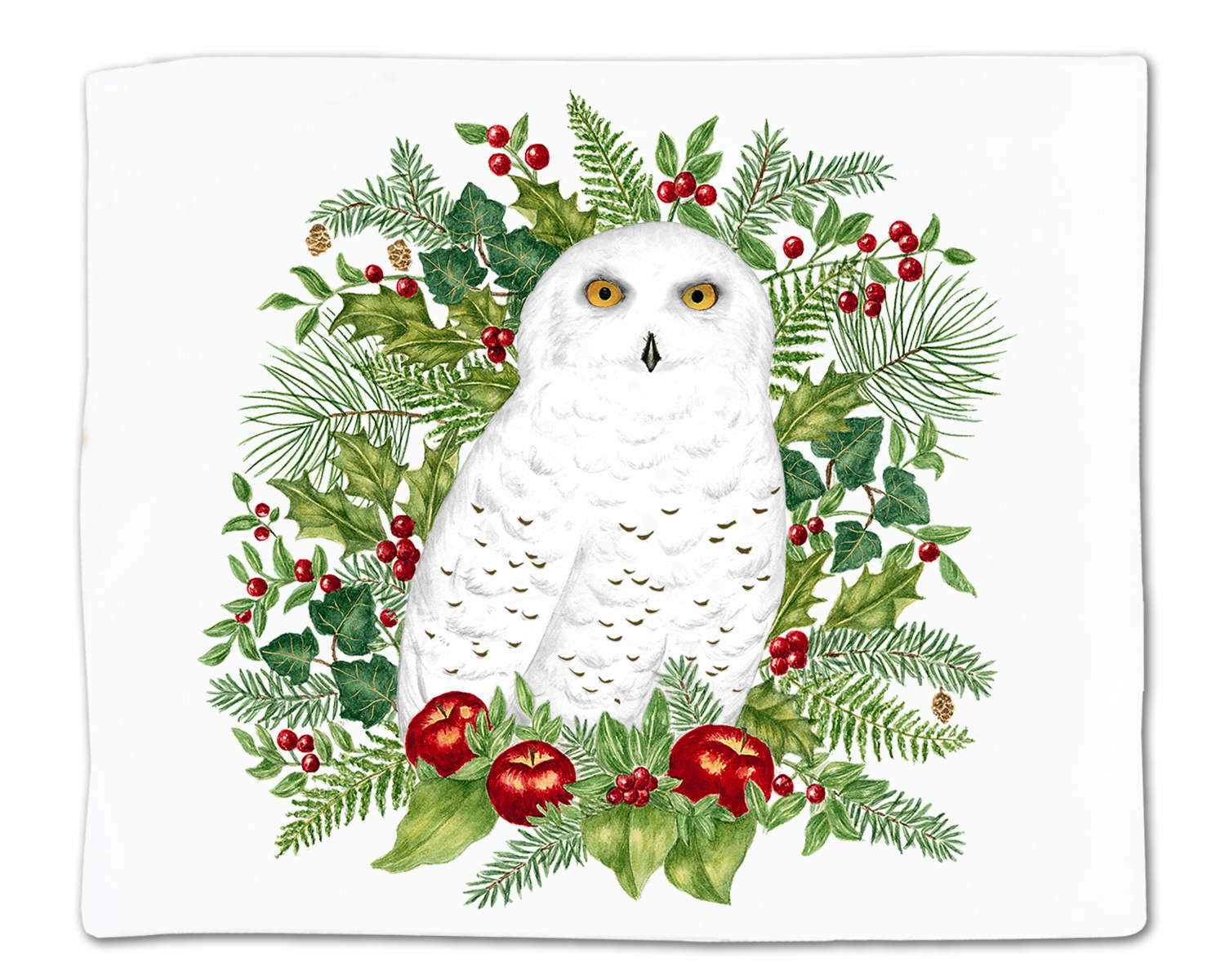Snowy Owl Single Flour Sack Towel