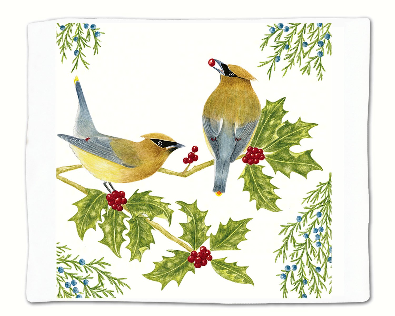 Cedar Waxwing Single Flour Sack Towel