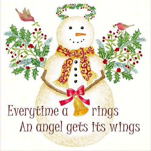 Angel Snowman Flour Sack Towel