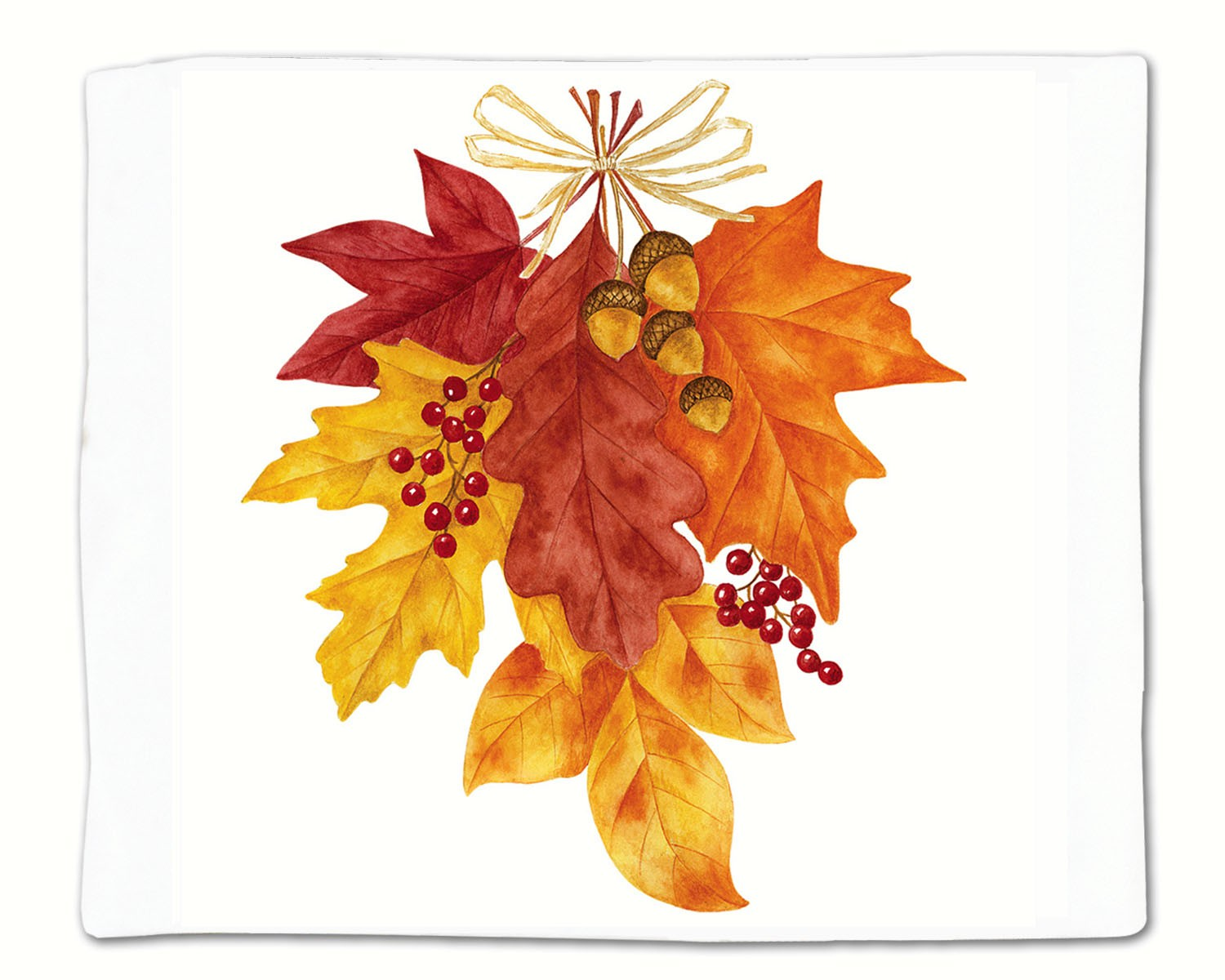 Autumn Leaves Single Flour Sack Towel