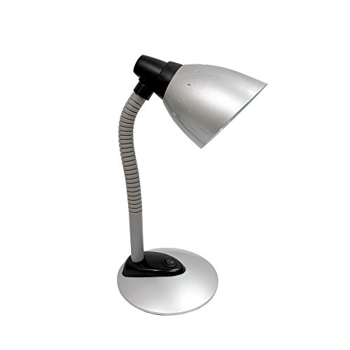 Simple Designs Silver High Power LED Desk Lamp