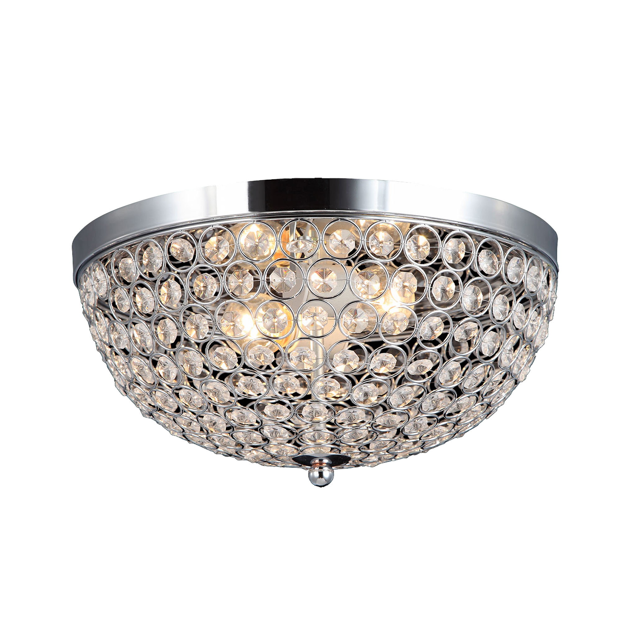 Elegant Designs Elipse Crystal Flush Mount