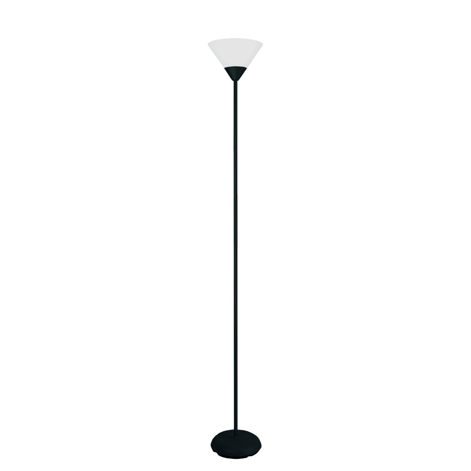 Simple Designs 1 Light Stick Torchiere Floor Lamp