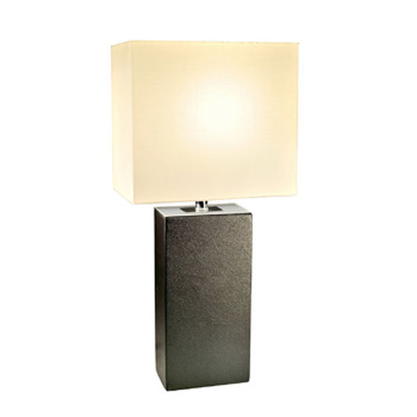 Elegant Designs Modern Black Leather Table Lamp