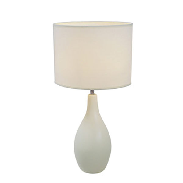 Simple Designs Off White Oval Base Ceramic Table Lamp