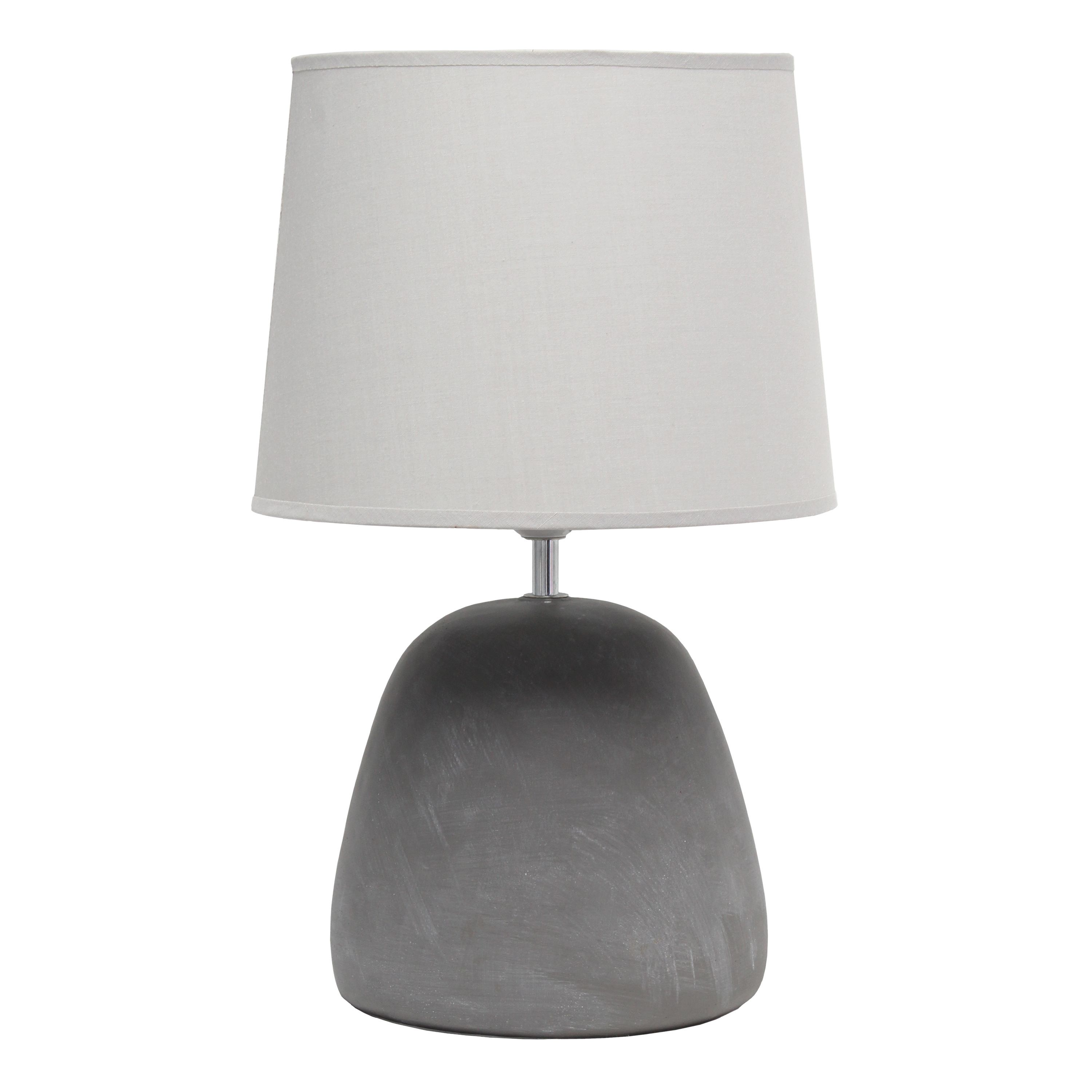 Simple Designs Round Concrete Table Lamp, Gray