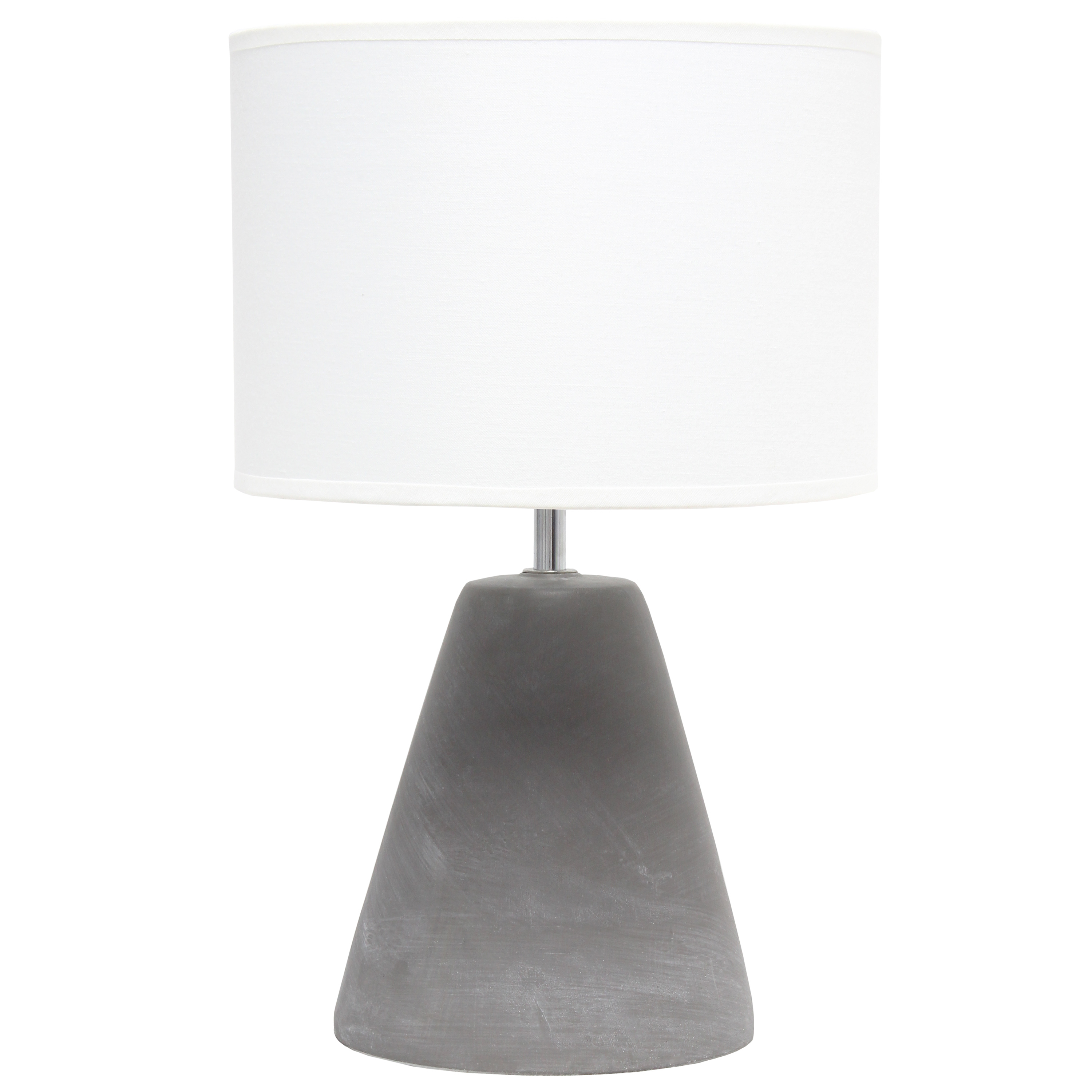 Simple Designs Pinnacle Concrete Table Lamp, White