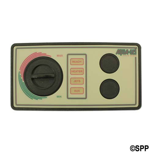 "Spaside Control, Air, Len-Gordon Aquaset, 115V, 2-Button, No Display w/Overlay, 6-1/2"" x 3-1/4"""