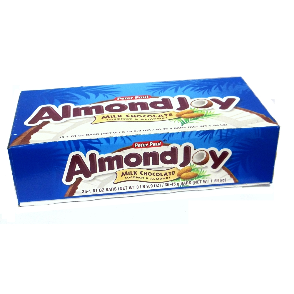 Almond Joy Singles Box of 36 1.61 oz Bars