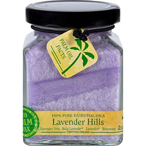 Aloha Bay Candle  Cube Jar  Pure Essential Oils  Lavender Hills  6 oz