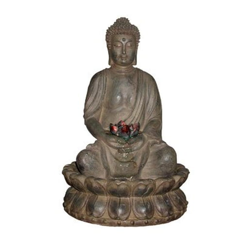 Tabletop Buddha Water Feature with LED Lights