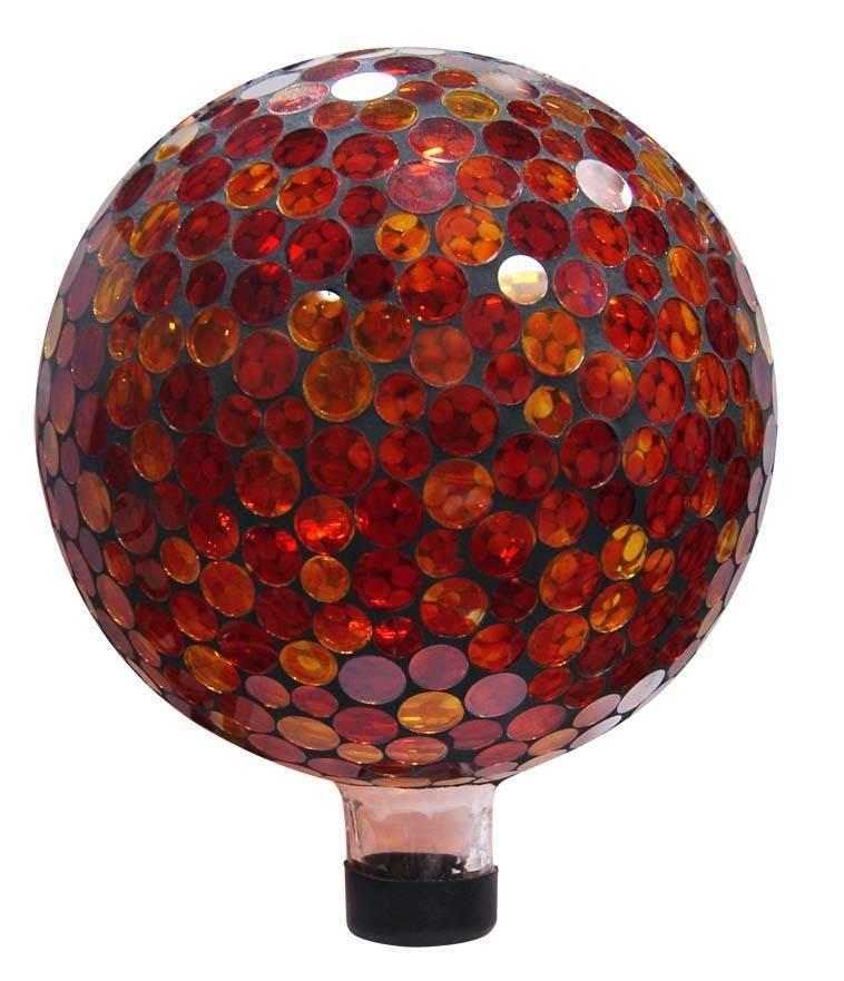 "10"" Mosaic Gazing Ball - Red/Yellow"