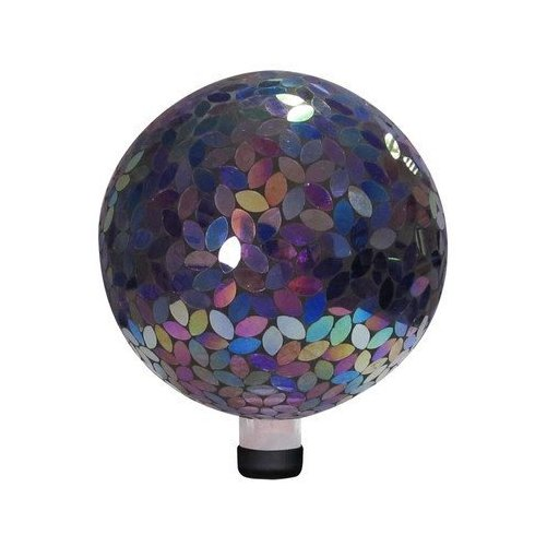 """10"""" Mosaic Gazing Ball - Purple"""