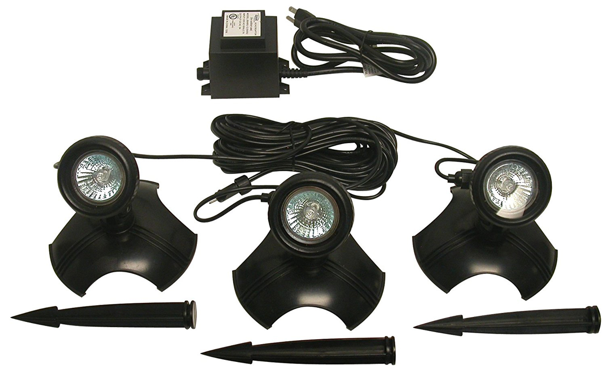 20 W Light Set of 3 with Transformer for Use In or Out of Water