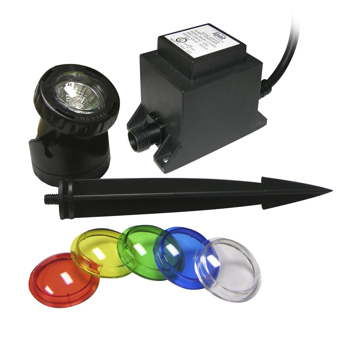 Power Beam 10 W Light Only 23ft Cord with Color Lenses & Stake