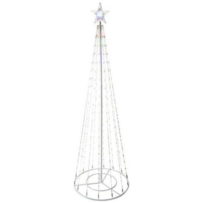 "83"" Christmas Tree Tower w/ 8 Functions and 300 LED Lights"